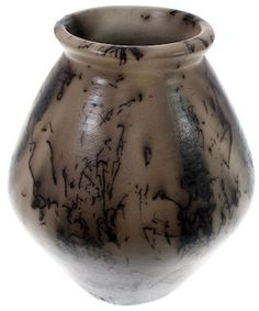 Horse Hair Pottery - Navajo Indian Vase by Native American Artist V. King KS76117 http://www.silvertribe.com