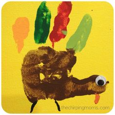 Super Cute Kids' Craft:  Thanksgiving Handprints