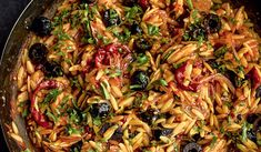 Red Orzo Risotto with Goat's Cheese - The Happy Foodie Orzo Risotto, Risotto Dishes, Mushroom Risotto, Risotto Recipes, Pasta Dishes, Pasta Recipes, Dinner Recipes, Vegetarian Comfort Food, Vegetarian Recipes