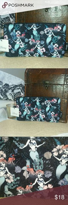 "MY LITTLE MERMAID COSMETIC/COIN PURSE Brand new with tags. 4.5"" in height and 8"" in length. Loungefly Bags Cosmetic Bags & Cases"