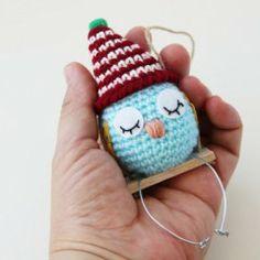 Crochet Amigurumi Bird Ornament Etsy.com/DaydreamsbyMeri