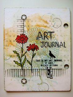 studio 490 art journal back cover... http://www.studio490art.blogspot.com/2014/01/q-and-6-winners.html