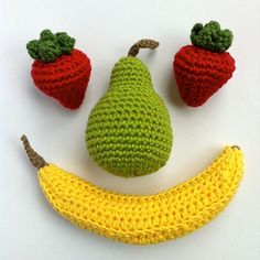 Crochet Fruit and Vegetables 6 / Crochet by LittleConkers on Etsy