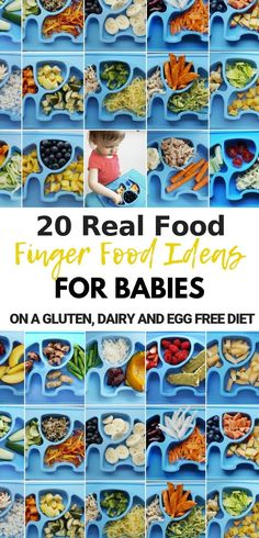 These 20 finger food ideas for babies are healthy allergy friendly (gluten free, dairy free, egg free). Easy and simple baby finger meal ideas that don't come from a box, suitable for month old babies including toddlers. Don't let gluten, dairy and egg Dairy Free Recipes For Kids, Dairy Free Eggs, Dairy Free Diet, Baby Food Recipes, Healthy Recipes, Lactose Free Baby Food, Entree Recipes, Food Ideas For Toddlers, Dairy Free Recipes For Toddlers