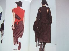 Yohji Yamamoto -- possibly a/w 1985-86, but it may not be. __ photo from book by Kiyokazu Washida