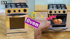 DIY How To Make Oven!! - Dollhouse Oven 미니어쳐 주방꾸미기 - 오븐편!!
