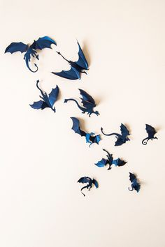 Game of Thrones Decor, 3D Dragon Wall Decal, Mother of Dragons, Fantasy Decor, Dark Blue Boys Room Wall Art by hipandclavicle on Etsy https://www.etsy.com/listing/177851414/game-of-thrones-decor-3d-dragon-wall