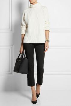 Victoria Beckham Denim | Chino cropped stretch-cotton straight-leg pants | NET-A-PORTER.COM