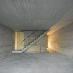 #Concrete interior of townhouse in Lisbon by ARX Portugal #architecture
