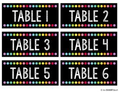 Classroom Reveal & First Day FREEBIES. classroom decorations Continue with the details at the image link. First Grade Classroom, New Classroom, Classroom Design, Kindergarten Classroom, Classroom Themes, Classroom Table Numbers, Classroom Environment, Classroom Resources, Neon Classroom Decor