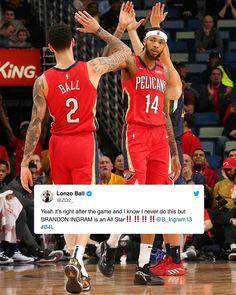 """SLAM on Instagram: """"Brandon Ingram ERUPTED for a career-high 49 points. 🗣 ALL-STAR!"""" Brandon Ingram, New Orleans Pelicans, Crescent City, Basketball Players, Slammed, Michael Jordan, All Star, Career, Baseball Cards"""