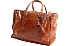 Asprey Leather Overnight Bag