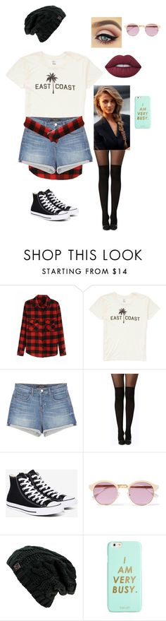 """""""Fall"""" by horseygirlhannah ❤ liked on Polyvore featuring Billabong, J Brand, Boohoo, Converse, Sheriff&Cherry, ban.do, Lime Crime and Fall"""