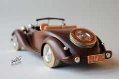 Wood Car, Cardboard Car, Wooden Toy Trucks, Wooden Art, Wood Toys, Wood Sculpture, Diy Toys, Hobbies And Crafts, Toys For Boys