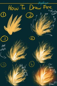 How to draw fire tutorial by Hyrchurn.deviantart.com on @deviantART