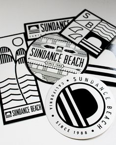 Each one of these sticker packs comes with 6 of these different designed die-cut stickers. Perfect for you surfboard, skateboard, or whatever board you like! Represent Sundance Beach and Santa Barbara