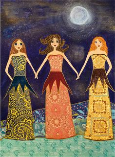 Together they were strong Art Print by Sascalia on Etsy, $18.00 - sister gift idea