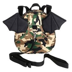 BTSKY® Baby Toddler Walking Safety Backpack with Leash Little Kid Boys Girls Anti-lost Travel Bag Harness Reins Cute Mini Bat Backpacks for Baby Years Old (Camouflage Green) Baby Harness, Toddler Backpack, Baby Safe, Child Safety, Travel Bag, Kids Girls, Camouflage, Boy Or Girl, Backpacks