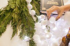 Luzes de Natal estão entre as dicas de presente e decoração feita à mão para o especial de Natal. Nesta imagem, o resultado final