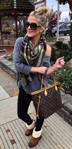 #fall #outfits women's gray long-sleeve shirt
