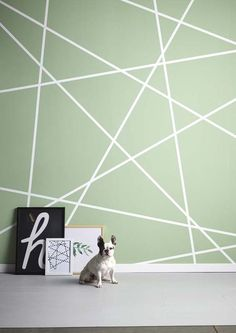 Geometric wall - Geometric wall - Geometrische wand - Geometrische wand - 0 Source by addisoneshelby Room Wall Painting, Room Paint, House Painting, Bedroom Wall Designs, Accent Wall Bedroom, Room Colors, Wall Colors, Diy Wall, Wall Decor