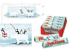 Toblerone Christmas Packaging Illustration