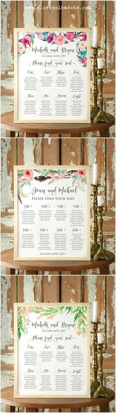 Table plan - boho style #4lovepolkadots #boho #bohemian #bohowedding #wedding #tableplan #weddingtable #weddingpaper