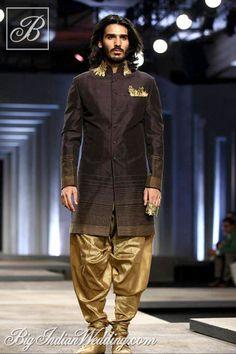 Shantanu Nikhil bandhgala with dhoti pants 2013 men's wedding attire, grooms indo western