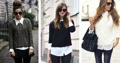 Diferentes formas de usar sua camisa branca