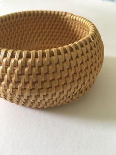 Vintage Coil Raffia Jute Cuff Bracelet