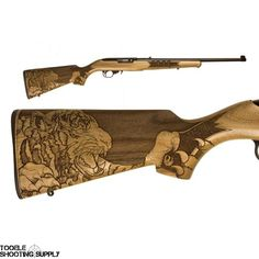 """Ruger 10/22 Talo Edition Tiger Rifle, 22 LR, 18"""", Deluxe Engraved Wood Stock…Find our speedloader now!  http://www.amazon.com/shops/raeind"""