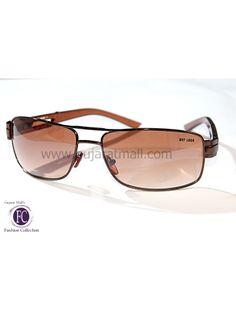 Buy Designer Unisex Sunglasses Brown Metallic Frame Gradient Brown Lens • GujaratMall.com