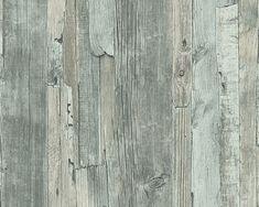 Vliestapete Decoworld Holz-Optik grün bei HORNBACH kaufen