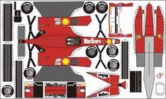 Paper Car Cutouts | Bastelbogen Ferrari F1 2000 - Bastelkarten -