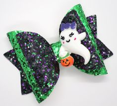 Excited to share this item from my shop: Halloween hair bow ghost hair band black ponytail holder baby headband green glitter hair bow clip purple hair bobble hair bow slide Diy Hair Bows, Diy Bow, Bow Hair Clips, Glitter Hair, Green Glitter, Purple Hair, Green Hair, Halloween Hair Bows, Bow Template