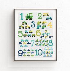 Baby cross stitch pattern Numbers cross stitch Nursery decor