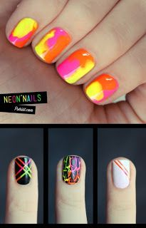Bold Neon nails for summer