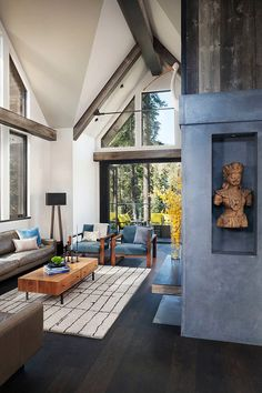 Modern vacation retreat in the woods near Lake Tahoe