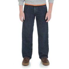 Wrangler Boys Loose Fit 5-Pocket Jean, Size: 12 REG, Blue