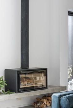 Basement Fireplace, Stove Fireplace, Wood Fireplace, Modern Fireplace, Fireplaces, Modern Wood Burning Stoves, Wood Stove Hearth, Chiminea, Freestanding Fireplace