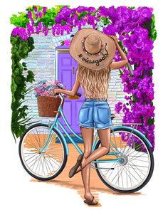 Весеннее настроение всегда наполнено красками Inspired by @laurabeverlin  #рисую #Иллюстрация #настявтворчестве #иллюстратор #скетч…