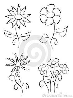 Hand draw flowers by Jan Kacer, via Dreamstime