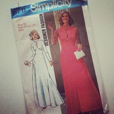 Seventies pattern charity shop find- could make a fabulous wedding dress #Bridal #Bespoke #Vintage #taradeighton