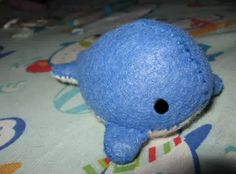Today's DIY features how to make a small cute whale plush. It is slightly more difficult than previous DIYs, but only because there are more pieces to sew together. However, the final product is definitely worth the work!