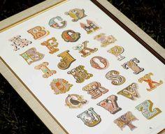 modern alphabet giclée print. 12X18. $42  http://www.etsy.com/listing/54071530/clearance-modern-alphabet-giclee-print