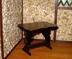 Gothic Trestle Table Dollhouse Miniature 1/12 by CalicoJewels
