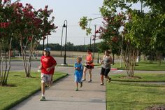 Speedy kids at the Social Run in Murphy during Tax Free Weekend.