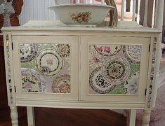 Broken Plate Mosaic,  by ntc318, as cupboard panels