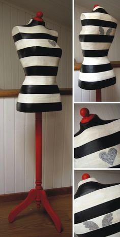Maniquí decorativo diseño Vintage & Chic + La Factoría Plástica