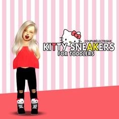 Sims 4 CC's - The Best: Kitty Sneakers Conversion by Coupure Electrique